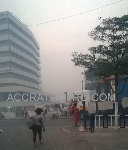 harmattan at Accra Central trotro bus stop