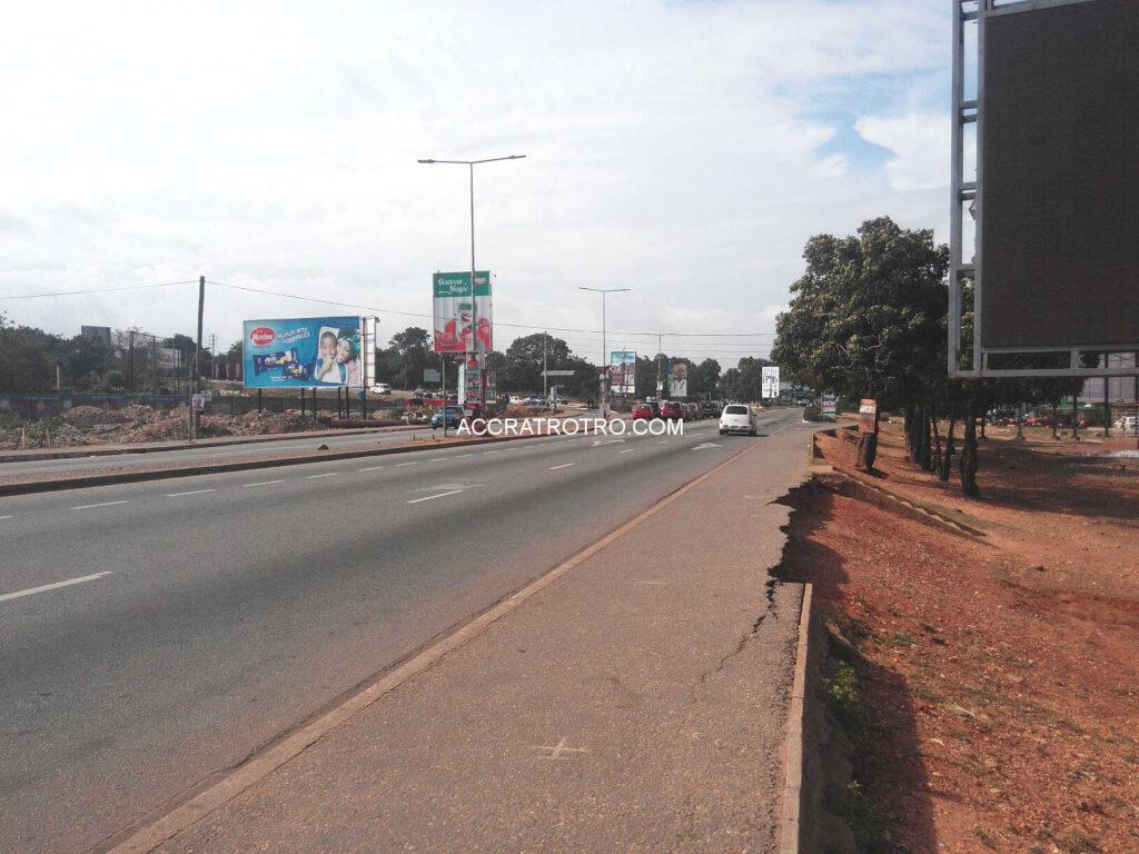 Accra trotro buses take alternate route to Lapaz