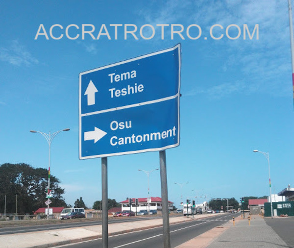 37 trotro station is between Osu and Madina neighborhoods