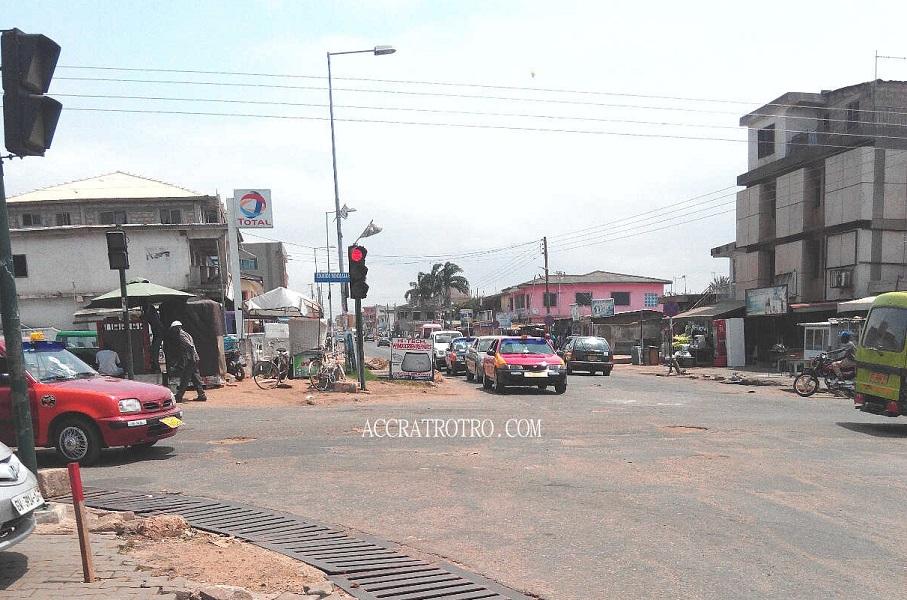 Abossey Okai Zongo junction to Chorkor trotro route
