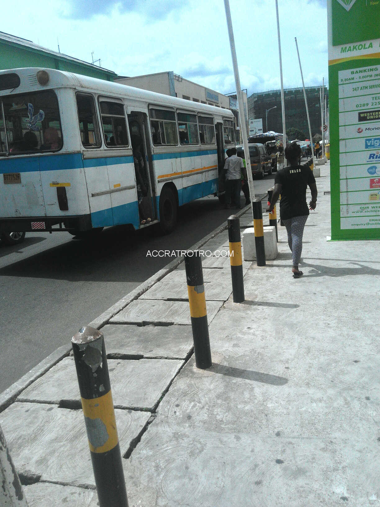 Trotro Tata bus at Accra Arena